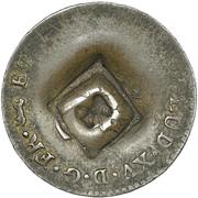 1½ Pence (Black Dog; H countermark on French Metropolitan 2 Sols) – avers