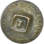 1½ Pence (Black Dog; H countermark on French Metropolitan 2 Sols) – revers