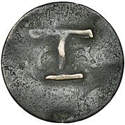 1-1/2 Pence (Black Dog) – revers