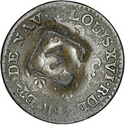 1½ pence (Black Dog) – avers