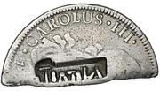 4 Shillings  1-½ Pence (Countermark type III) – avers
