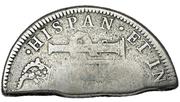 4 Shillings  1-½ Pence (Countermark type III) – revers