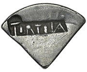 2 Shillings (Type II countermark) – avers