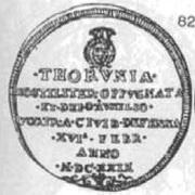 Dwutalar toruński - Toruń under siege (Toruń mint) – avers