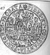 Talar toruński - brandtalar - Toruń under siege (Toruń mint) – revers