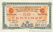 50 centimes - Chambre de Commerce de Toulon et du Var [83] -  avers