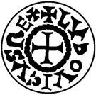 Denier - Louis II le Bègue (Roi d'Aquitaine) – avers