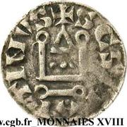 Denier Philippe II Auguste, Abbaye Saint-Martin de Tours – revers