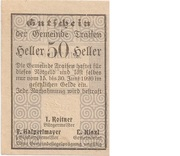 50 Heller (Traisen) – avers