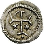 ½ silique Au nom de Justinien I, 527-565 (Pannonie?) – revers