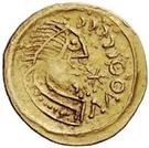 1 tremissis Au nom de Justinien I, 527-565 (Pannonie) – avers