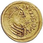 1 tremissis Au nom de Justinian I, 527-565 (Pannonie) – avers