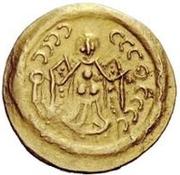 1 tremissis Au nom de Justinian I, 527-565 (Pannonie) – revers