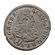 1 Krajczár Charles VI – avers