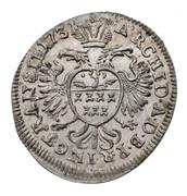 1 krajczár Charles VI – revers