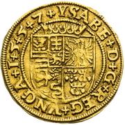 1 Ducat  - John Sigismund Zapolya & Izabella 1540-1559 – revers