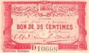 25 centimes - Chambre de Commerce du Tréport [76] – avers
