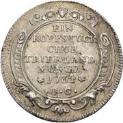 1 Kopfstück - Franz Georg von Shönborn – revers