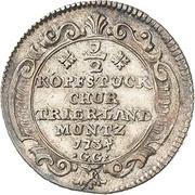 ½ Kopfstück - Franz Georg von Shönborn – revers