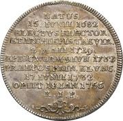 ½ Thaler - Franz Georg von Schönborn (Death) – revers