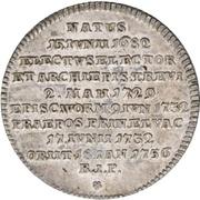 1/16 Thaler - Franz Georg von Schönborn – revers