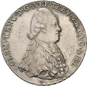 1 Thaler - Clemens Wenzel von Sachsen (Konventionstaler) – avers