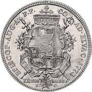 ½ Thaler - Clemens Wenzel von Sachsen (1/2 Konventionstaler) – revers