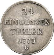 1/24 Thaler - Clemens Wenzel von Sachsen – revers