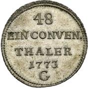 1/48 Thaler - Clemens Wenzel von Sachsen – revers