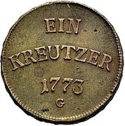 1 Kreuzer - Clemens Wenzel von Sachsen – revers