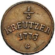 ½ Kreutzer - Clemens Wenzel von Sachsen – revers