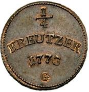 ¼ Kreutzer - Clemens Wenzel von Sachsen – revers