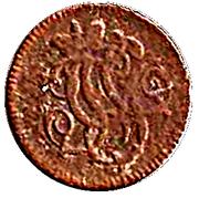 2 pfennig Franz Georg – avers