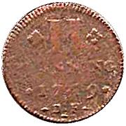 2 pfennig Franz Georg – revers