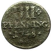 4 pfennig Franz Georg – revers