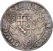 1 Weißpfennig - Jakob I von Sierk (Koblenz) – revers
