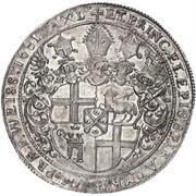 1 thaler Johann Hugo de Orsbeck – revers