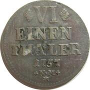 ⅙ thaler Johann Philipp de Walderdorff – revers