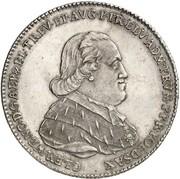 1 thaler Clemens Wenzel de la Saxe – avers