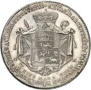 1 thaler Clemens Wenzel de la Saxe – revers