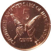 5 Cents (Independence) – revers
