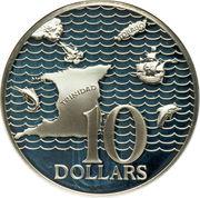 10 dollars (10ème anniversaire de l'Indépendance) -  avers