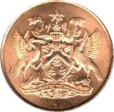 5 cents (10ème anniversaire de l'indépendance) – avers