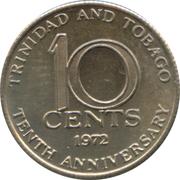 10 cents (10ème anniversaire de l'Indépendance) – revers