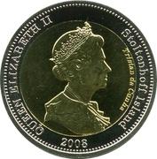 25 pence Elizabeth II (Île Stoltenhoff) – avers