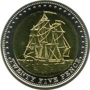 25 pence Elizabeth II (Île Stoltenhoff) – revers