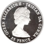 25 pence La reine mère (argent) – avers