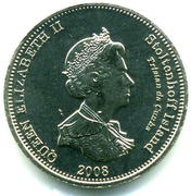 5 pence Elizabeth II (Île Stoltenhoff) – avers
