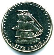5 pence Elizabeth II (Île Stoltenhoff) – revers