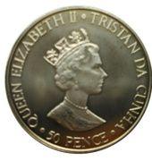 50 Pence - Elisabeth II – avers
